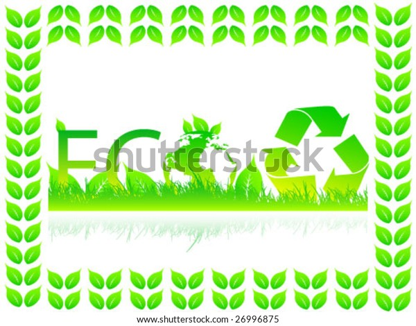 Ecological background vector illustration