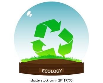 Ecological ball vector illustration