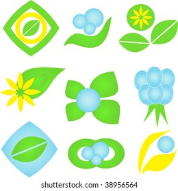 Ecological icons. Vector illustration