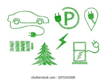 Ecological technology car (Vector)