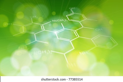 ecology background: chemical formulas