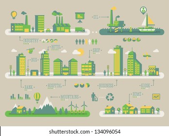 Ecology background, vector info graphic