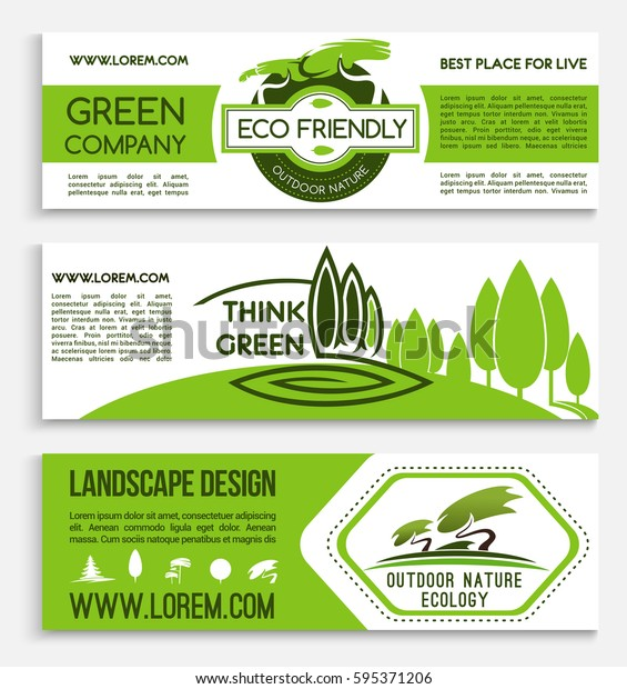 Ecology Banner Template Green Business Eco Stock Vector Royalty