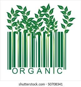 Ecology barcode, vector
