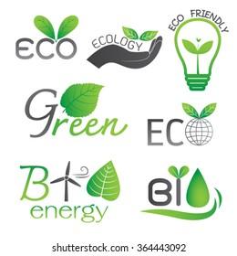 Ecology and Bio Energy Icons