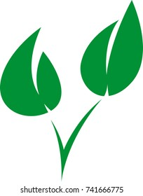 Ecology bio leaf logo