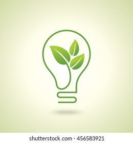 Ecology bulb light, a creative environmental idea.