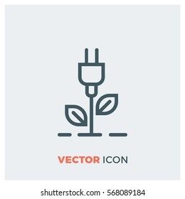 Ecology Charging line vector icon