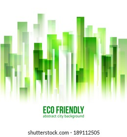 Ecology city background. Eco friendly concept. Green territory abstract vector.