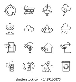 Ecology collection icon vector design
