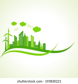 Ecology concept with abstract design - vector illustration