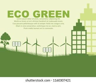ecology concept background, vector illustration