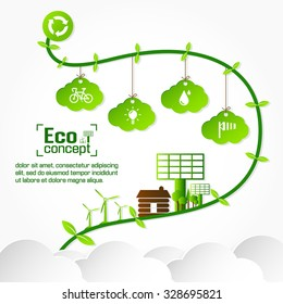 Ecology concept. save world vector illustration