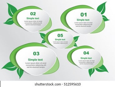 Ecology connection concept green Templates . Vector infographic illustration