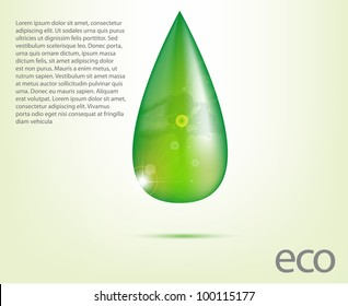 Ecology Design Element Vector Drawing Set