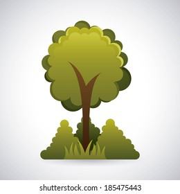 Ecology design over gray background, vector illustration