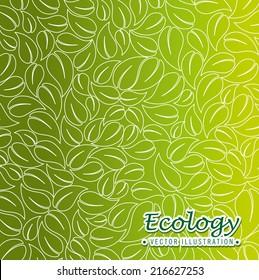 Ecology design over green background, vector illustration
