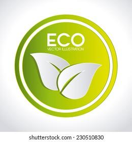 Ecology design over white background,vector illustration