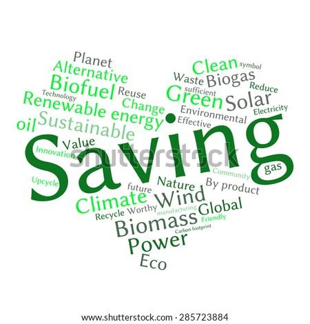 ecology earth concept word collage environmental stock vector