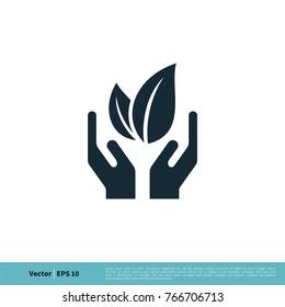 Ecology, Eco Green Icon Vector Logo Template