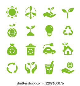 Ecology Eco icon set