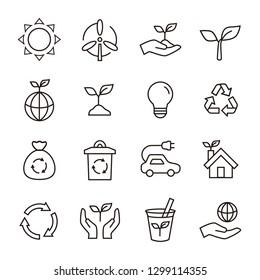 Ecology Eco icon set