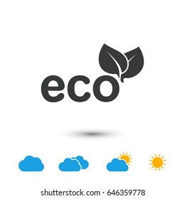 Ecology, eco leaf vector icon