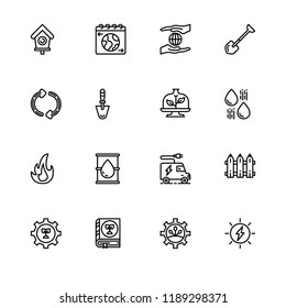 Ecology eco lifestyle lineal icon set EPS 10 vector format. Transparent background.