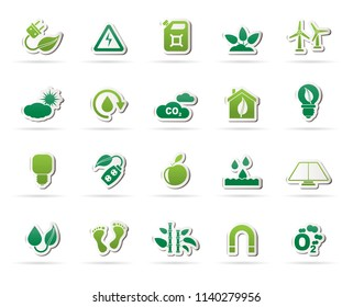 Ecology, Environment and nature icons 3 - vector icon set
