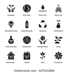 Ecology and Environmentalism Glyph Icons - Vectors