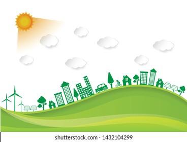 Ecology environmentally friendly concept Vector infographic