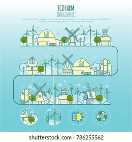 ecology city landscapes vector template thin stock vector royalty