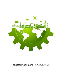 Ecology  friendly concept. save world