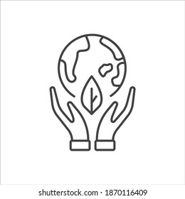 ecology icon flat design, ecology icon for represent saving the earth, go green to reduce pollution, etc