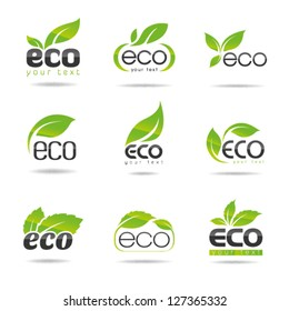 Ecology icon set. Eco-icons 1
