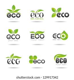 Ecology icon set. Eco-icons 2