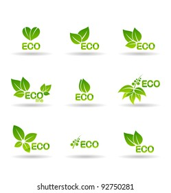 Ecology icon set. Eco-icons.