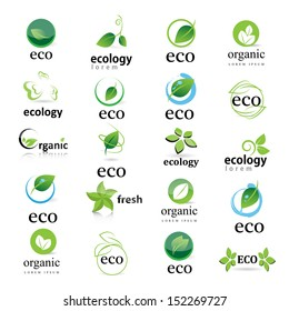 Ecology Icon - Set - Isolated On White Background. Vector illustration, Graphic Design Editable For Your Design