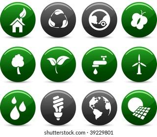 Ecology   icon set. Vector illustration.