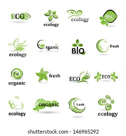 Ecology Icons Set - Isolated On White Background - Vector illustration, Graphic Design Editable For Your Design. Eco Logo