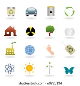 Ecology icons and symbols set