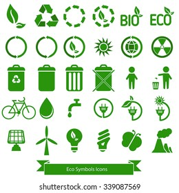 Ecology icons vector.