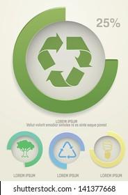 Ecology info graphics elements.