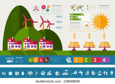 Ecology Infographic Template. - Shutterstock ID 218968858