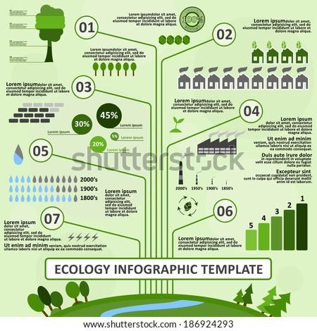 Ecology Infographic Template Easy Edit Vector Image Vectorielle De