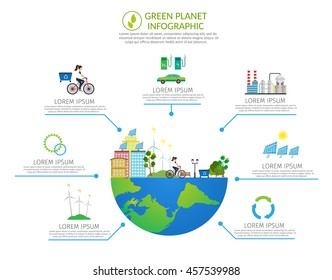 Ecology infographic vector elements illustration and environmental risks and pollution. City life set.