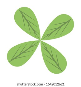 ecology leafs plant isolated icon vector illustration design