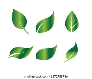 Ecology Leaves go green logo illustration - Vector