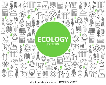 Ecology Line Icons Pattern