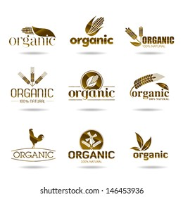 Ecology, organic icon set. Organic-icons